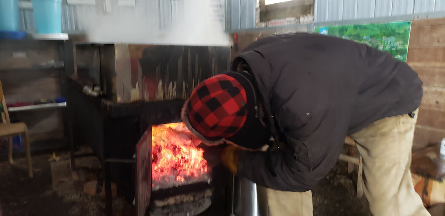 fred making maple syrup